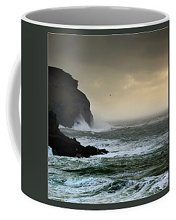 Coffee Mug featuring the photograph Ochre Sky's And Angry Seas 1 by Paul Davenport