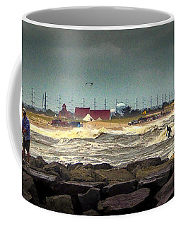 Angry Surf At Indian River Inlet Coffee Mug