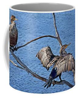 Coffee Mug featuring the photograph Anhinga - Drying by Nikolyn McDonald