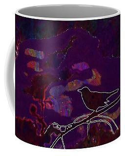 Coffee Mug featuring the digital art Animal Bird Dark Nature Silhouette  by PixBreak Art