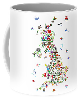 Animal Map Of Great Britain For Children And Kids Coffee Mug