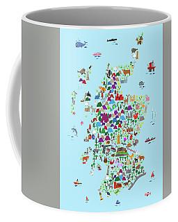 Animal Map Of Scotland For Children And Kids Coffee Mug