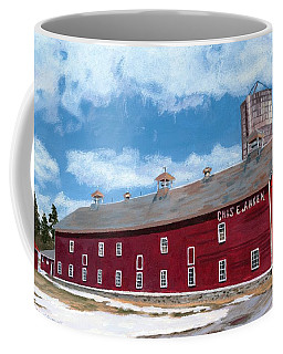 Coffee Mug featuring the painting Anken's Barn by Lynne Reichhart
