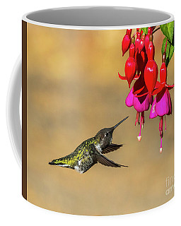 Anna And Hardy Fuchsia Flower Coffee Mug