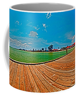 Anna Maria Island Seen From The Historic City Pier Panorama Coffee Mug