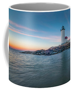 Annisquam Light In Waders Coffee Mug