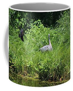 Annoyed - Heron And Red Winged Blackbird 1 Of 10 Coffee Mug