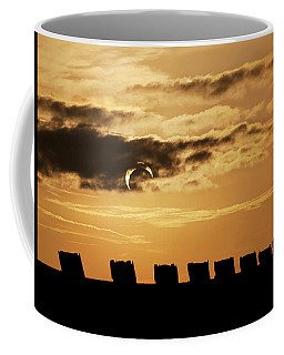 Coffee Mug featuring the photograph Annular Eclipse Over Cadillac Ranch by Scott Cordell