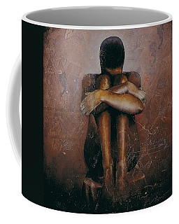Coffee Mug featuring the painting Annunciation / Mary by Christopher Marion Thomas