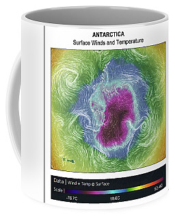 Antartica Surface Winds And Temps Coffee Mug by Geraldine Alexander
