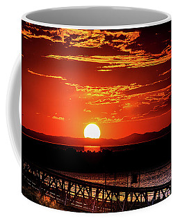 Antelope Island Marina Sunset Coffee Mug