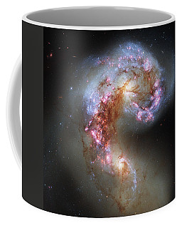 Coffee Mug featuring the photograph Antennae Galaxies Reloaded by Nasa