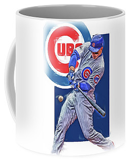 Anthony Rizzo Chicago Cubs Oil Art Coffee Mug