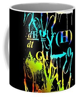 Coffee Mug featuring the digital art Anthro Equation by Robert G Kernodle