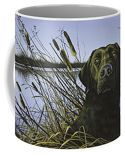 Anticipation - Black Lab Coffee Mug