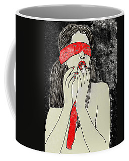 Coffee Mug featuring the drawing Anticipation by W And F Kreations
