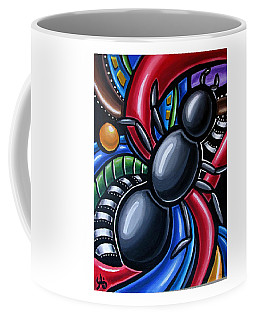 Ant Art Painting Colorful Abstract Artwork - Chromatic Acrylic Painting Coffee Mug