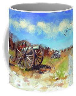 Coffee Mug featuring the digital art Antietam Under Blue Skies  by Lois Bryan