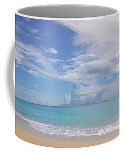Antigua Beach View Of Montserrat Volcano Coffee Mug