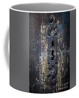Coffee Mug featuring the photograph Antique Door Lock Detail by Elena Elisseeva