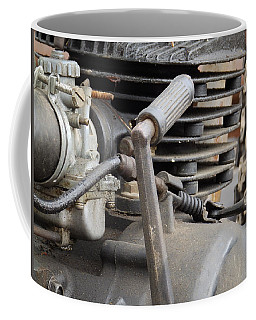 Coffee Mug featuring the photograph Antique Engine by Nick Kirby