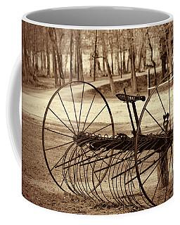 Antique Farm Rake In Sepia Coffee Mug
