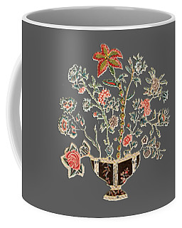 Antique Floral Art Coffee Mug