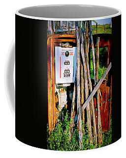 Coffee Mug featuring the photograph Antique Gas Pump by Linda Unger