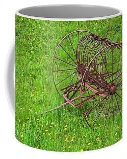 Coffee Mug featuring the photograph Antique Hay Rake by Alan L Graham