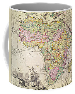 Antique Map Of Africa Coffee Mug