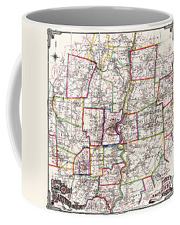 Horse Carriage Era Driving Map Of Hartford Connecticut Vicinity 1884 Coffee Mug