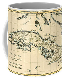 Antique Map Of Cuba Coffee Mug