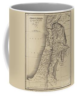 Antique Map Of Judah And Israel Coffee Mug