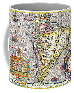 Antique Maps - Old Cartographic Maps - Antique Map Of South America, 1630 Coffee Mug