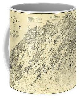 Antique Maps - Old Cartographic Maps - Antique Map Of Casco Bay, Maine, 1870 Coffee Mug