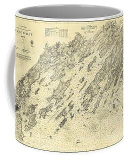 Antique Maps - Old Cartographic Maps - Antique Map Of Casco Bay, Maine, 1870 Coffee Mug