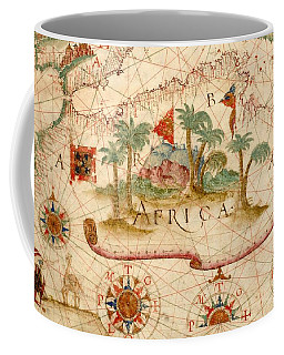 Antique Maps - Old Cartographic Maps - Antique Map Of North Africa Coffee Mug