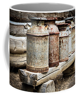 Coffee Mug featuring the photograph Antique Milk Cans by Nadja Rider