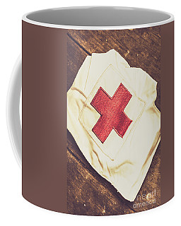 Antique Nurses Hat With Red Cross Emblem Coffee Mug