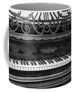 Antique Piano Black And White Coffee Mug