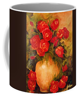 Antique Red Roses Coffee Mug