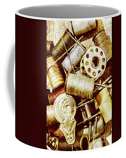 Coffee Mug featuring the photograph Antique Sewing Artwork by Jorgo Photography - Wall Art Gallery