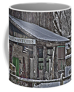 Coffee Mug featuring the photograph Antique Shack by Deborah Klubertanz
