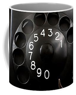 Coffee Mug featuring the photograph Antique Telephone Dial by Gunter Nezhoda
