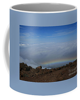 Anuenue - Rainbow At The Ahinahina Ahu Haleakala Sunrise Maui Hawaii Coffee Mug
