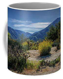 Coffee Mug featuring the photograph Anza-borrego Desert State Park Desert Flowers by Randall Nyhof