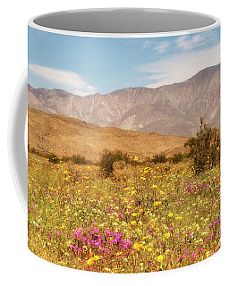 Coffee Mug featuring the photograph Anza Borrego Desrt Flowers by Michael Hope
