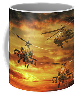 Coffee Mug featuring the digital art Apache Attack by Randy Steele