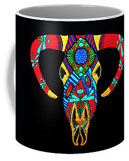 Coffee Mug featuring the painting Apache Dawn Close Up by Debbie Chamberlin