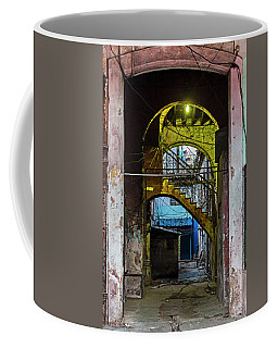 Coffee Mug featuring the photograph Apartment Enrance Havana Cuba Near Calle C by Charles Harden